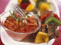 Steak Kebabs with Chilli Dip recipe
