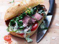 Steak Sandwiches with Arugula and Tomato recipe