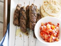 Steak Skewers with Tomato Salad recipe