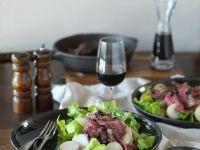 Steak Strips with Salad recipe