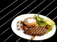 Steak with Baked Potato recipe