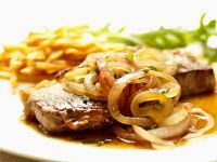Steak with Caramelized Onions recipe