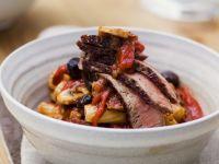 Steak with Mushrooms and Rigatoni recipe