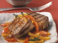 Steak with Pepper Ragout recipe