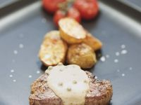 Steak with Peppercorn Sauce recipe
