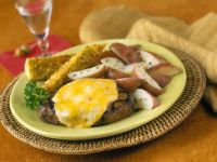 Steaks with Cheese and Potatoes recipe