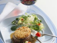 Steaks with Mustard Crust recipe