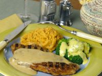 Steaks with Sweet Potato Puree recipe