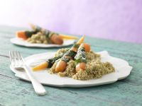 Steamed Carrots and Wild Garlic recipe