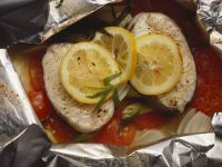 Steamed Cod in Foil