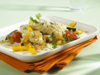 Steamed Cod with Mixed Vegetables recipe