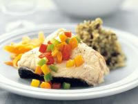 Steamed Fish with Salsa and Wild Rice recipe
