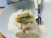 Steamed Halibut with Leek recipe