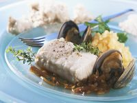 Steamed Mussels and Pollock with Mashed Potatoes recipe