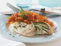 Steamed Perch with Tomato and Herb Sauce recipe