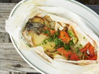 Steamed Trout with Vegetables recipe