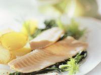 Steelhead Trout on Spinach recipe