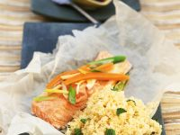 Steelhead Trout with Couscous recipe