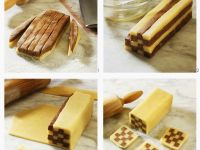 Step-by-step Icebox Checkerboard Cookies recipe