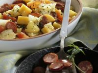 Stew of Rutabaga and Cabbage with Mettwürst recipe