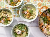 Stew with Carrots, Arugula and Smoked Ham recipe