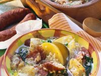 Stew with Turnips, Barley and Sausage recipe