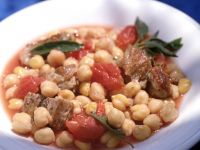 Stewed Lamb with Chickpeas and Tomatoes recipe