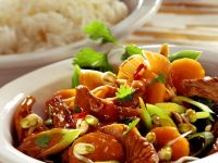 Stir-fried Beef with Vegetables and Mushrooms recipe