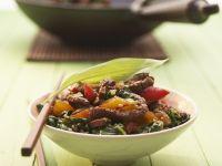 Stir-fried Beef with Wild Garlic recipe