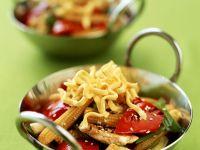 Stir-Fried Egg Noodles with Turkey and Vegetables recipe