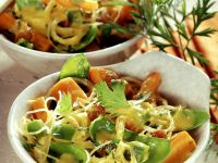Stir-Fried Glass Noodles with Carrots and Snow Peas recipe