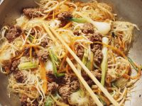 Stir-Fried Ground Meat and and Cellophane Noodles recipe
