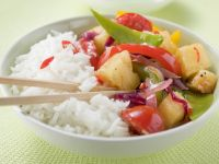 Stir-Fried Vegetables and Pineapple with Rice recipe