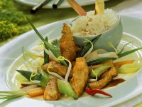 Stir-Fried Vegetables with Chicken and Basmati Rice recipe
