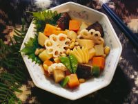 Stockpot with Soybeans, Shiitake Mushrooms and Potatoes recipe