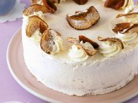 Stone Fruit and Cream Icing Gateau recipe