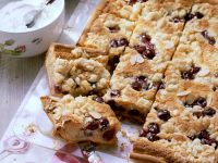 Stone Fruit and Nut Tray Bake recipe