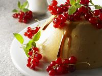 Stone Fruit Pudding with Red Berries recipe