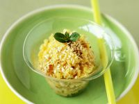 Stone Fruit Pudding with Sesame recipe