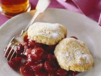 Stone Fruit with Biscuits recipe