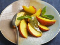 Stone Fruit with Mint Syrup recipe