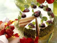 Strawberry Apple Cream Torte with Pistachios recipe