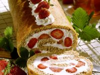 Strawberry Cream Roulade recipe