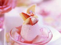 Strawberry Cream with Rhubarb recipe