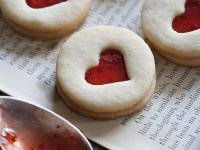 Strawberry Jam Filled Sandwich Cookies recipe
