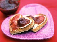 Strawberry Jam Toast Hearts recipe