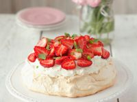 Berry and Cream Meringue Cake recipe
