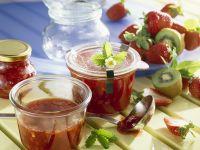 Strawberry-Rhubarb Jam with Kiwi recipe