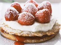 Strawberry Shortcake with Almonds recipe