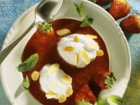 Strawberry Soup with Egg White Dumplings recipe